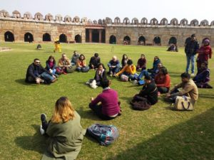 Walkers discovering the capital's heritage. Pic: Delhi Heritage Walks