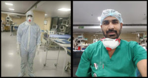 Bharat Kumar Soni, nurse at RML Hospital's COVID-19 ICU