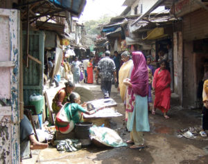 Dharavi, Asia's largest slum, houses a population of 7 lakh
