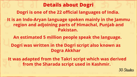 Details about Dogri