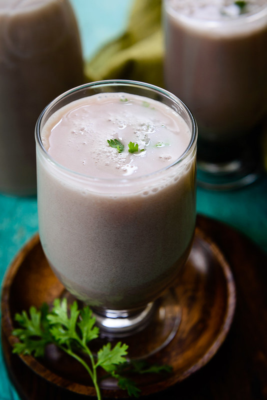 Sol Kadhi is a soothing preparation made using kokum fruit and coconut.  It can be served as a drink or as a curry in thali. 30 stades