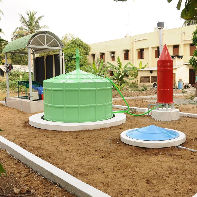 Carbon Loops has set up a biogas plant at  Stella Maris College in Chennai. Pic: Carbon Loops