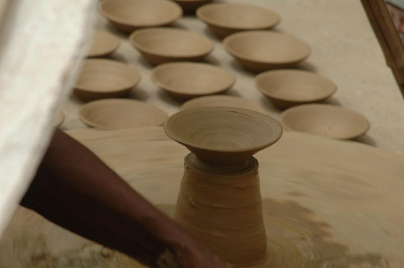Pottery requires both skill and precision.