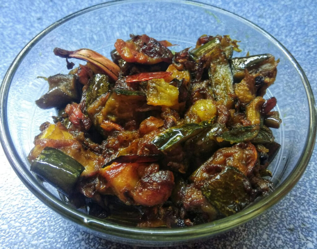 People returned to frugal food habits as supply chain of most items was affected during the peak of lockdown between April and mid-June. Here, a dry vegetable dish made using peels.