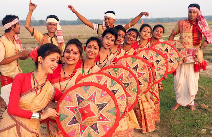 In Assam, Bihu dance is an integral part of Maghi Bihu celebrations. Pic: Flickr