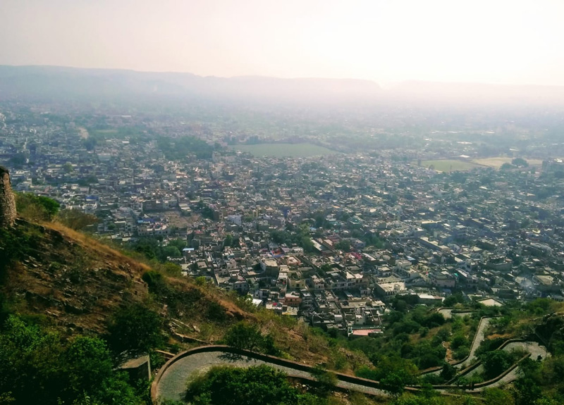 View from the Nahargarh Fort, built by  by Maharaja Sawai Jai Singh in 1734. Pic: Jaipur Heritage Foundation