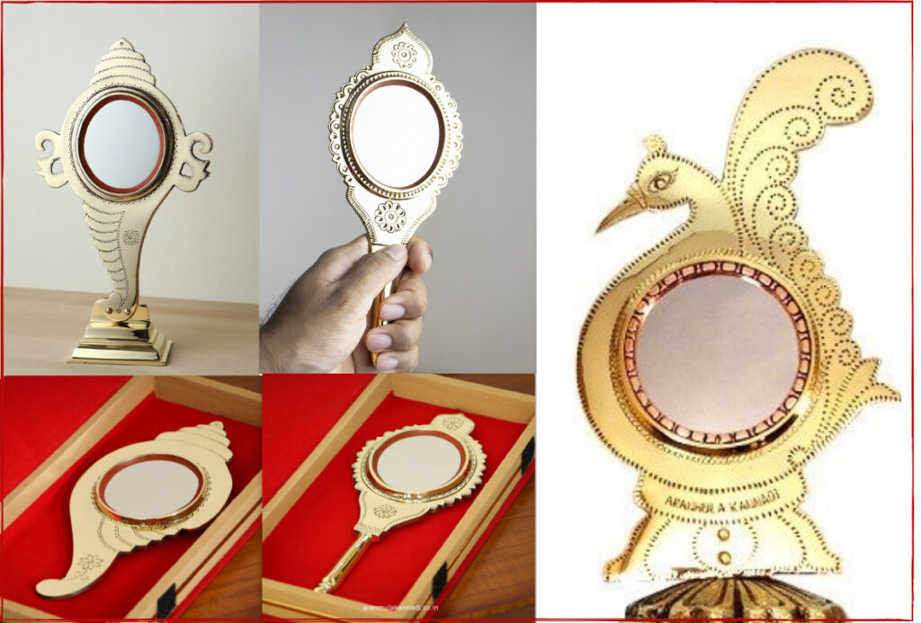 Aranmula Kannadi in various designs. Pic: through Govardhan K B. 30 stades