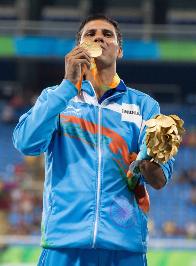 Devendra Jhajharia after winning the Gold Medal at Rio de Janeiro Paralympics in 2016.  Pic: courtesy Devendra Jhajharia 30 stades