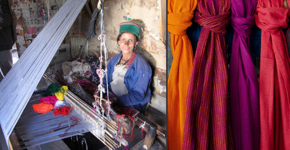 Himalayan Weavers: Woollens hand-woven by Bhotia tribe in the Himalayas find a global market yak sheep wool uttarakhand 30 stades