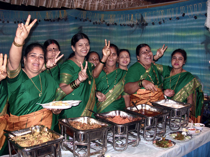 Koli women at the Versova Sea Food Festival, which draws huge crowds every year. Pic: Flickr