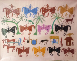 Pithora art: How Jhabua's Bhuri Bai broke centuries-old taboos with a brush & colours 30 stades bhil tribal painting madhya pradesh 30 stades