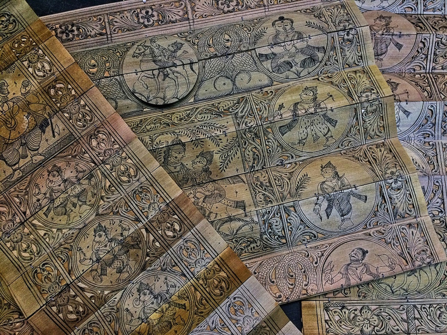 Pothi Chitra: Odisha's 900-year-old palm leaf engravings find global patrons 30 stades