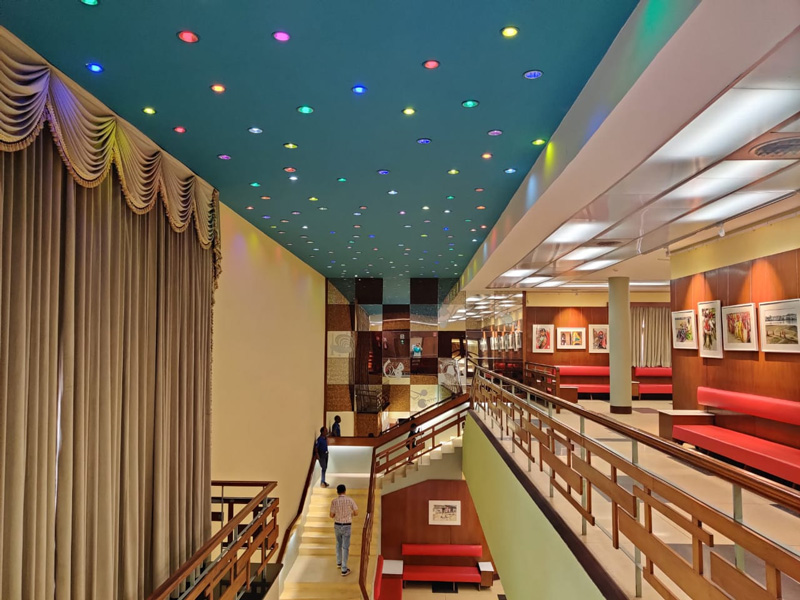 The refurbished cinema is well-equipped for holding exhibitions, staging plays or film festivals. Pic: Urvashi D Rawal