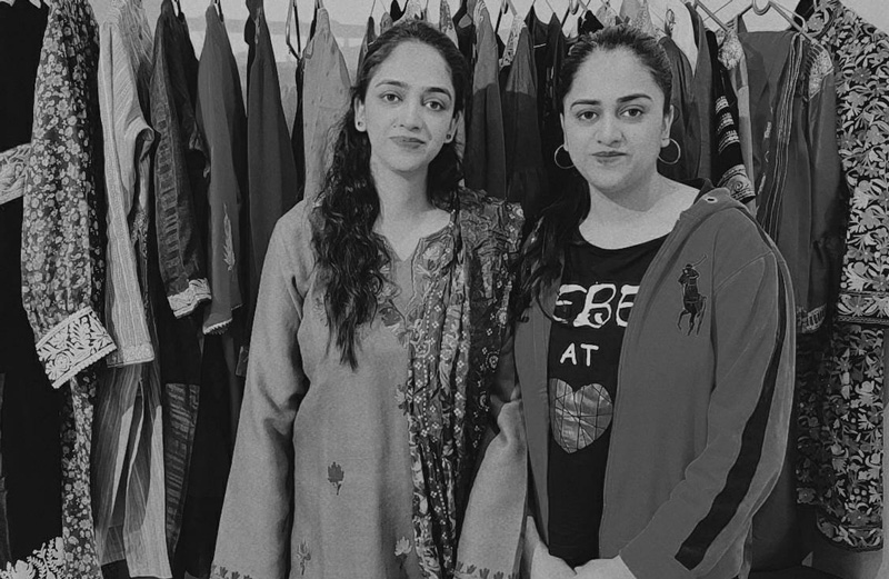 Sisters  Iqra and Bushra Mukhtar are reviving traditional dresses & embroidery through their start-up Kashmiri Pehnava, which has customers across India. Pic: Iqra Mukhtar
