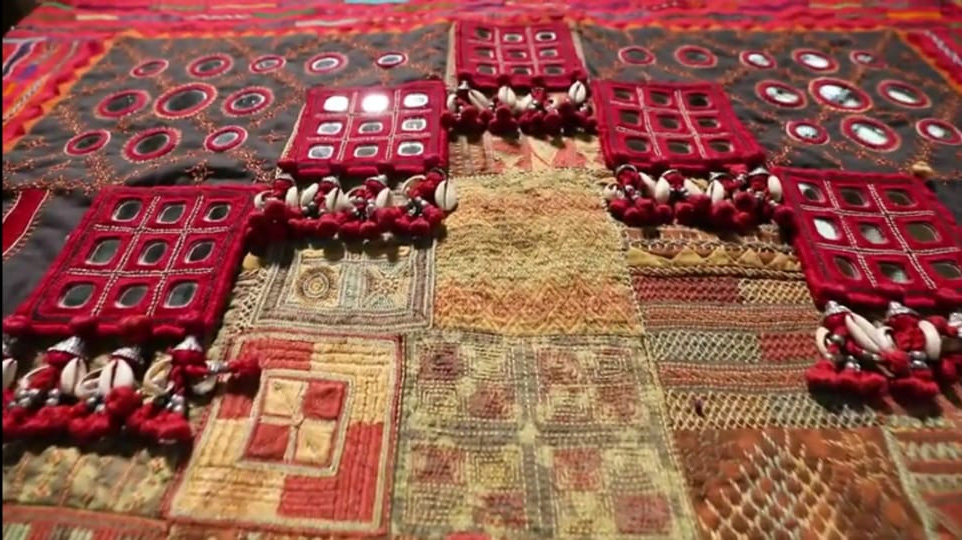 Lambani embroidery stands out for use of cowries, mirrors, bold colours and geometric patterns. Pic: SKKK