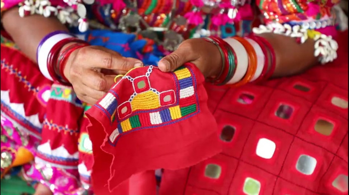 Lambanis are so skilled that they can adapt to any style without losing the essence of their traditional embroidery. Pic: SKKK