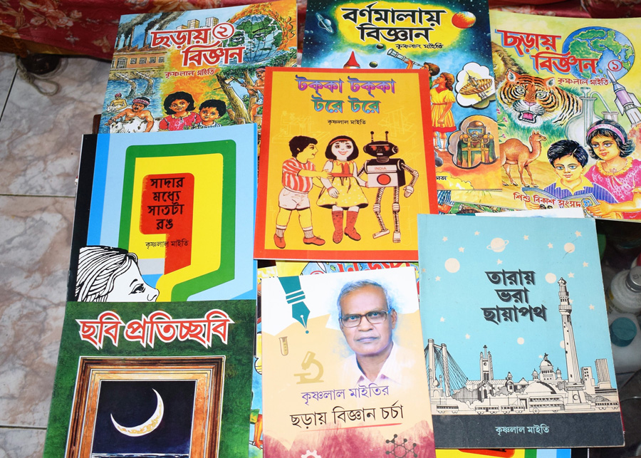 About 4,000 copies of each of the 18 rhyme books are re-printed every year. Pic: Partho Burman