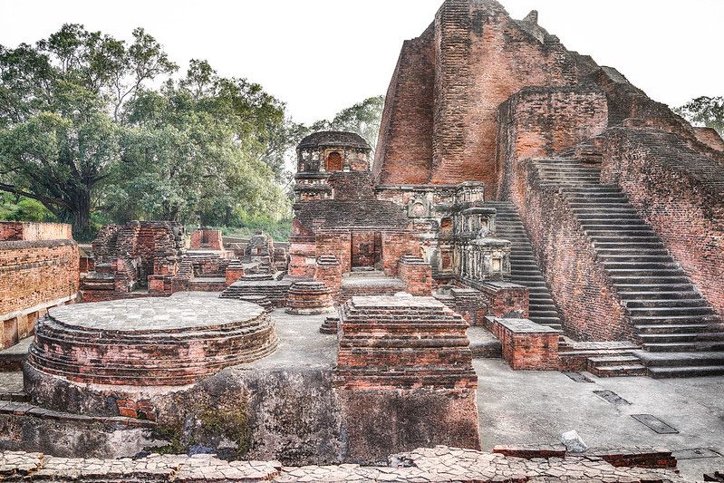 Remains of Nalanda University  that existed between the 3rd century BCE and the 13th century CE. Pic: Flickr