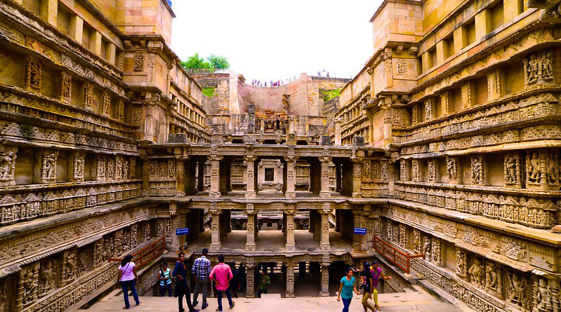 The 11th century stepwell has been designed as an inverted temple. Pic: Flickr