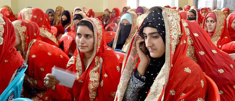 A mass marriage being conducted through NGO Aash - The Hope of Kashmir. Pic: through Aash