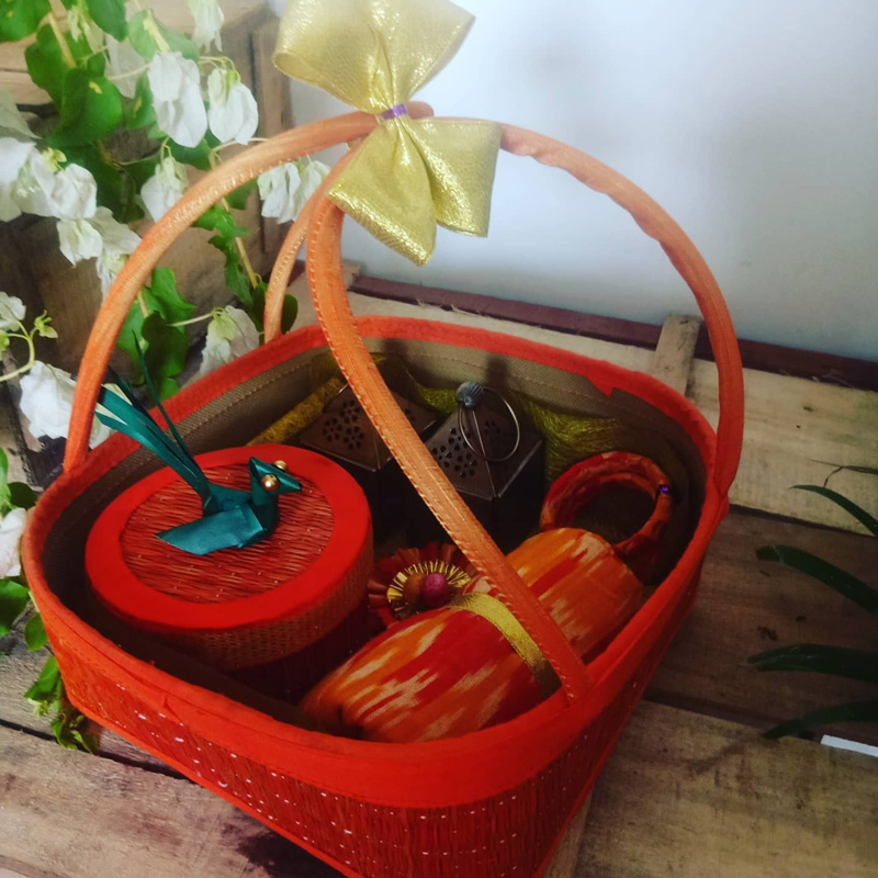 Thamboolam basket, given as return gifts on weddings. Pic: through Kottanz