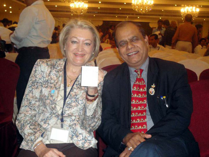 Dr Pradeep K Srivastava with French scientist and researcher Prof Nicole Moreau. Pic: courtesy of Dr Srivastava