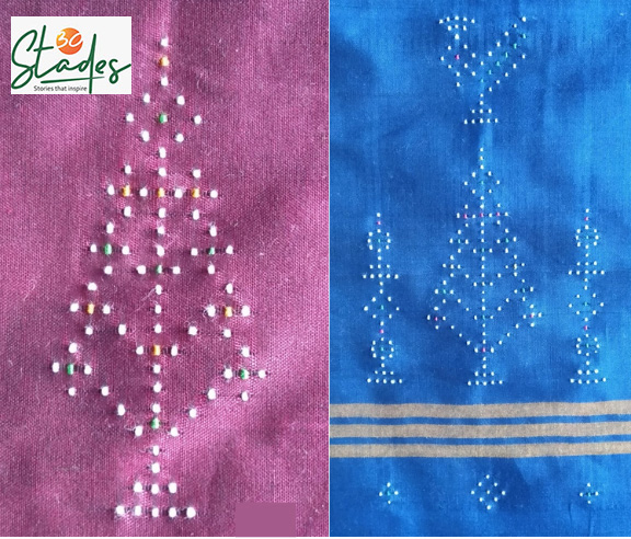 The patterns appear identical on both sides of the fabric. Pic: Chandubhai Rathod