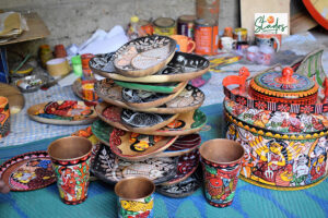 Bengal's 12th-century Patachitra art moves from paper to metals, ceramics, wood & fabrics to reach global markets painting trays kettle tea pots 30stades