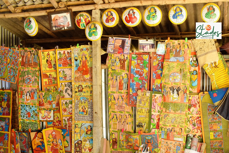 Naya Village in West Midnapore is home to 87 Chitrakar (Patua) families who make Patachitra.  Pic: Partho Burman