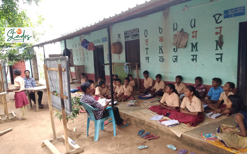 Students at the Sido Kanhu Mission school. Pic: Partho Burman 30stades