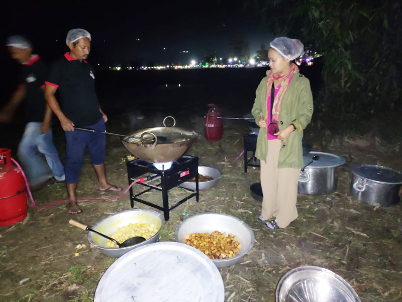 Teri Yajo is the first local to foray into the catering business dominated by Biharis, Bengalis and Marwaris. Pic: Teri Yajo 30stades