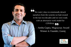 'Charity kills dignity & without dignity, you can't talk about development': Goonj Founder Anshu Gupta magsaysay award winner dignity for work NGO society 30 stades