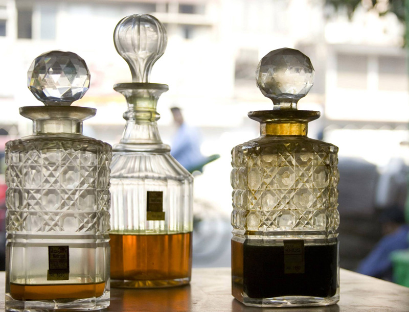 Pure attars are expensive. A 10ml bottle of Ruh Rajnigandha (the essence of Tuberose) costs Rs 10,000 and Ruh Gulab Rs28,000. Pic: Facebook/@gsjm1816  30stades