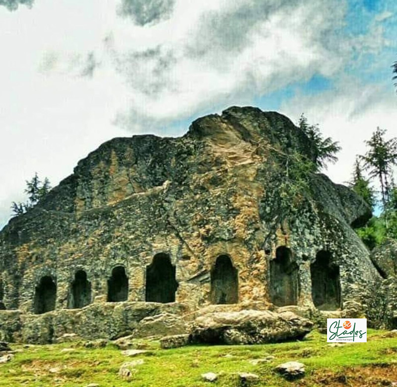 A giant carved stone at the end of the Lashtyal village named 'Satbaran' has seven doors, Pic: Parsa Mahjoob Kalaroos caves: Kashmir's Russia connection through tunnels