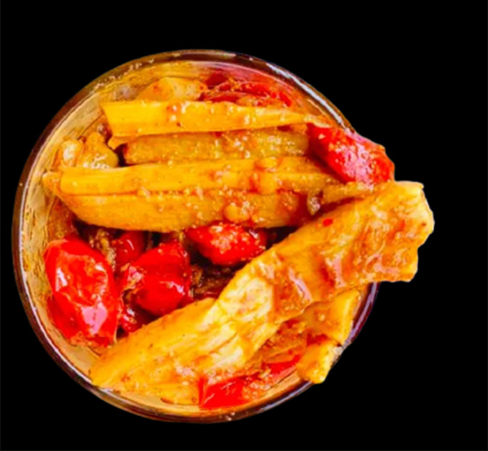 Tender bamboo shoot pickle. Pic: Flickr
