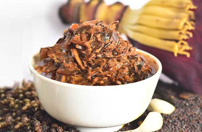 Banana flower pickle is popular in the North East and Southern India.  30 stades
