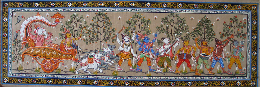 A Pattachitra made in Raghurajpur. Pic: Flickr 30stades