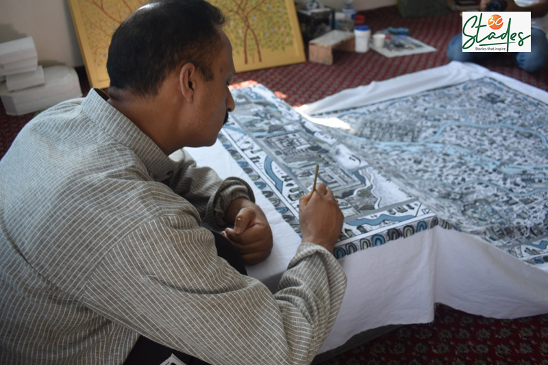Jan has been awarded four times by the Jammu and Kashmir government for his art. Pic: Wasim Nabi 30 stades