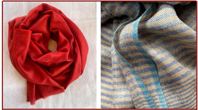 Pashmina products from Leh's Nomadic Woollen Mills are sold globally. Pic: Facebook/@nomadicwoollenmills 30 stades