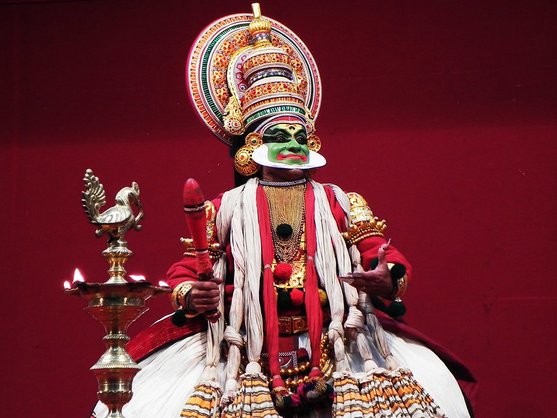 Kathakali, classical dance of the 'story play' genre, is performed across the state during the 10-day festival. Pic: Flickr