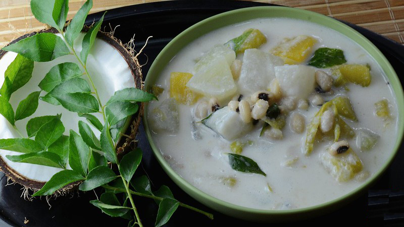 Sadya's other famous dish is olan - ash gourd and red beans in coconut milk. Pic: Flickr