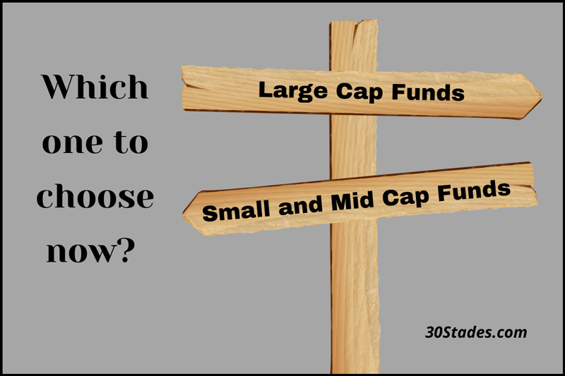 It's time to go for large cap funds & move away from mid and small cap funds mutual funds stock market sensex nse personal finance 30stades