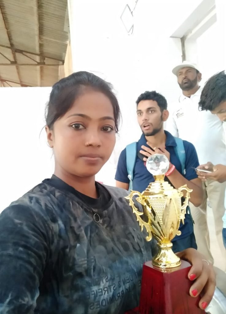 Anjani Gupta with a trophy she won at a state-level competition. Pic: courtesy Anjani Gupta 30 stades