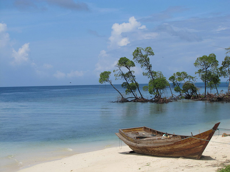 Radhanagar beach at Swaraj (Havelock) Island in Andaman & Nicobar Islands is famous for its turquoise water and lushgreenery around. 30 stades