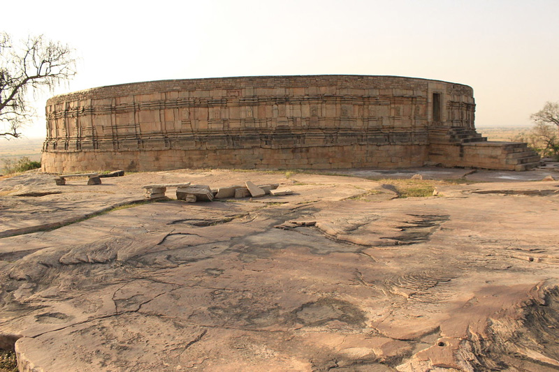 The structure of the temple is circular. Pic: Pankaj Saxena/Wikimedia Commons
