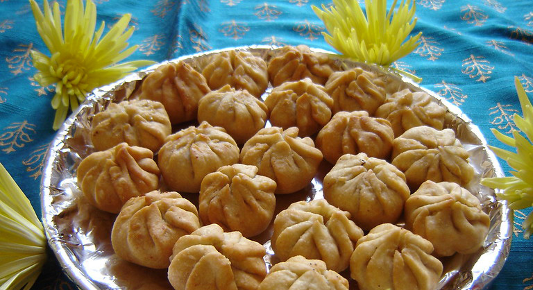 Fried modak: Instead of being steamed, the traditional modaks can also be fried. Pic: Flickr 30 stades