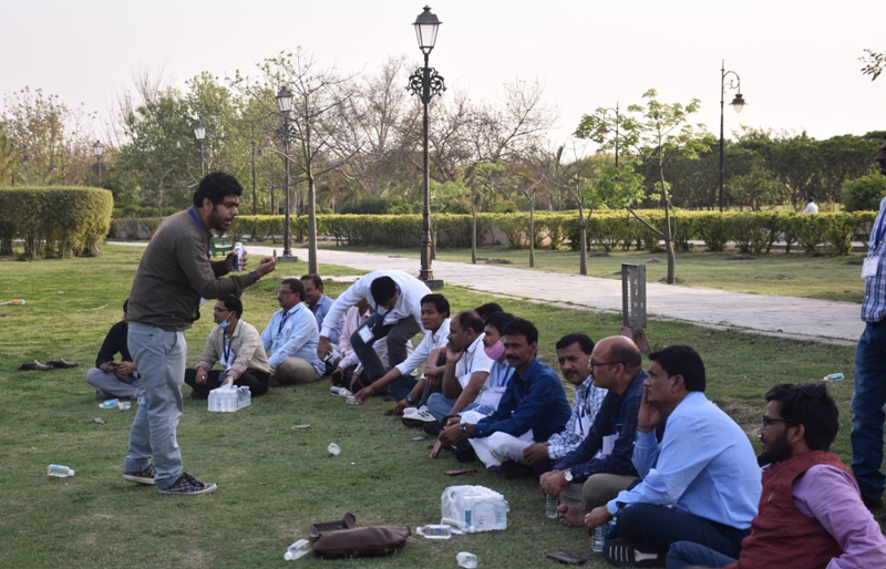 Mantra4Change providing training to block education officers at a BEO workshop. Pic: Mantra4Change