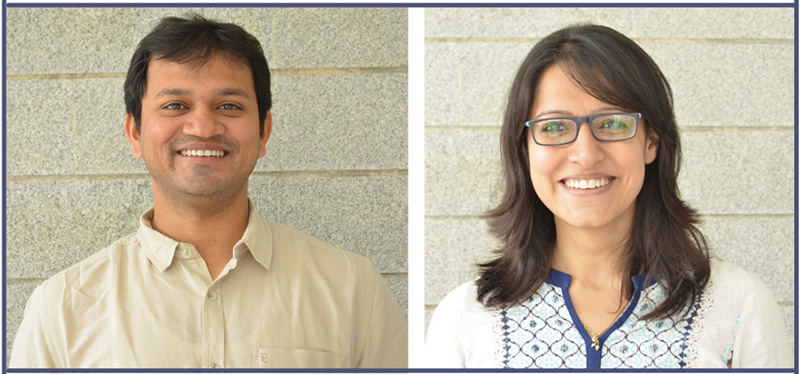 Mantra4Change founders Santosh More (left) and Khushboo Awasthi (right). Pic: Mantra4Change 30 stades