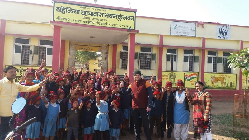 Baheliya Chhatrawas Bhawan where 65 girls currently study in classes 1 to 12. Pic: Facebook/@lastwildernessfoundation 30 stades