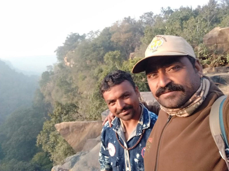 Batal Pardhi (left) who gave up hunting in 2007 and is now working as a watchman and forest guide. Pic: through Batal Paradhi